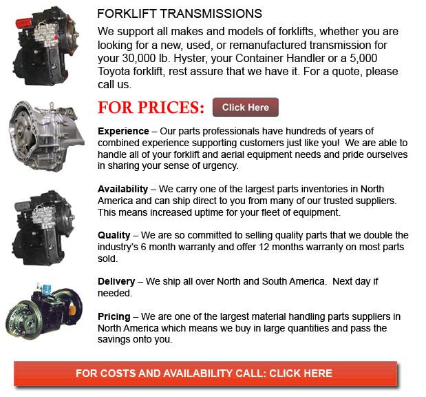 Transmission for Forklifts