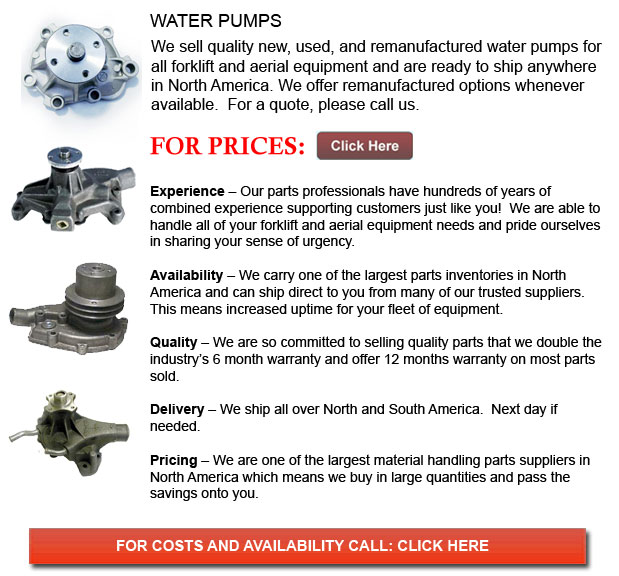 Water Pumps for Forklift