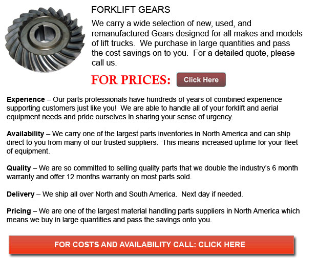 Gears for Forklift