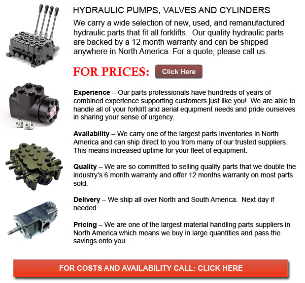 Hydraulic Pump, Valves and Cylinders