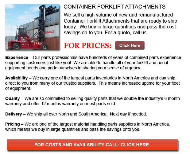 Container Forklift Attachment