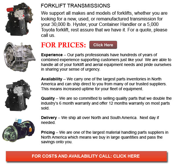 Transmission for Forklifts