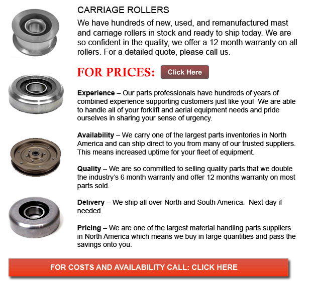 Carriage Rollers