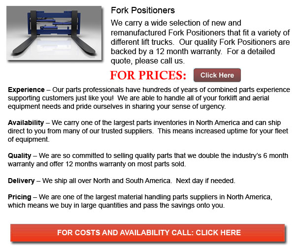 Fork Positioner for Forklifts