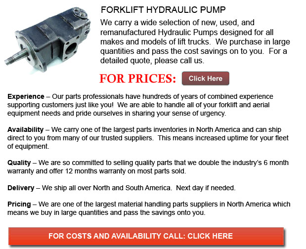 Forklift Hydraulic Pumps