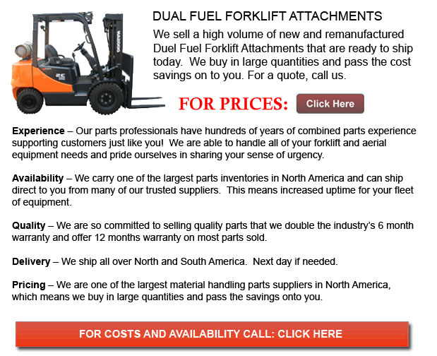 Dual Fuel Forklift Attachment