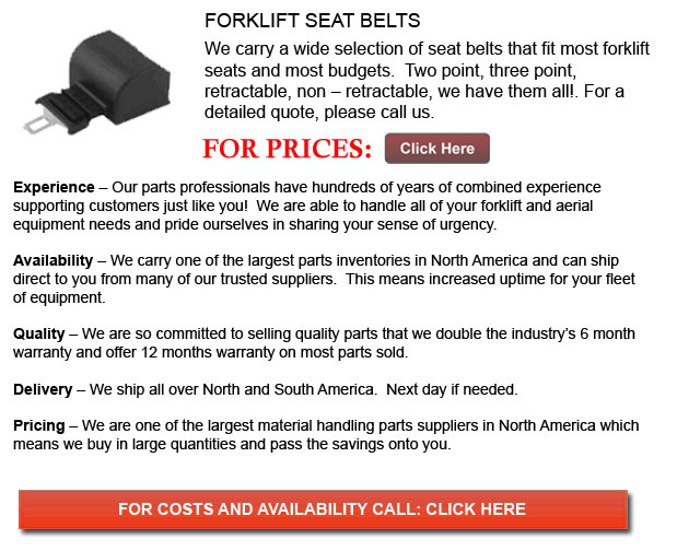 Seat Belt for Forklifts