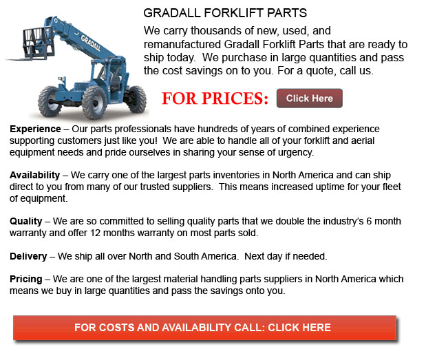 Gradall Forklift Parts