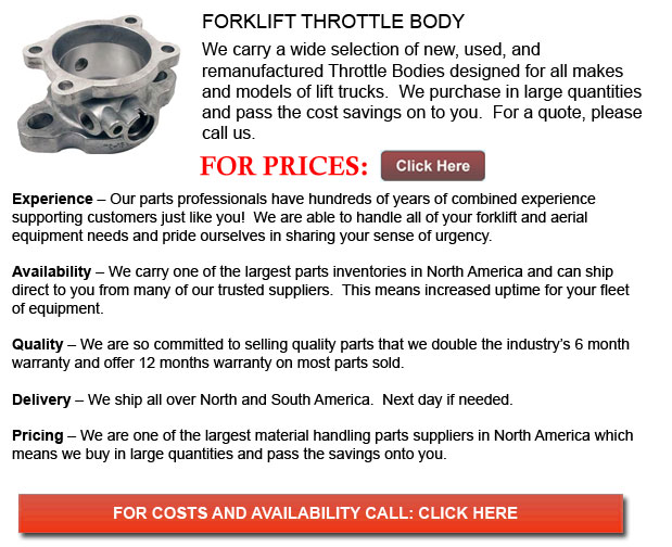 Throttle Body for Forklifts