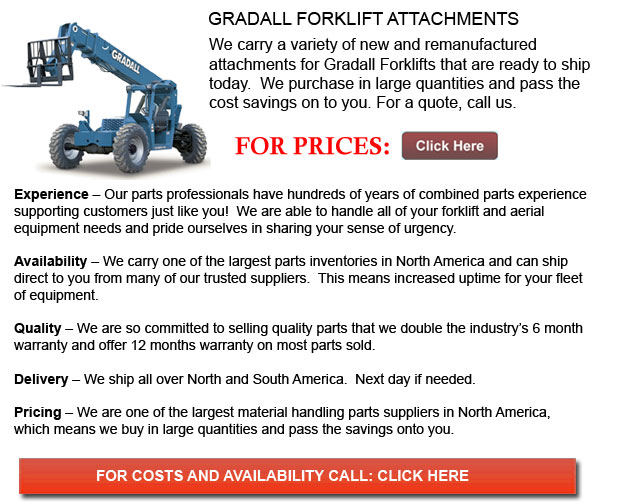 Attachments for Gradall Forklifts