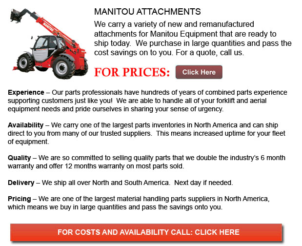 Attachments for Manitou Forklift