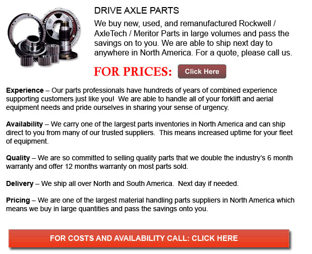 Drive Axle for Forklifts