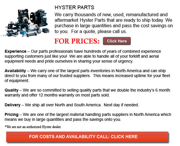 Hyster Forklift Parts Wisconsin